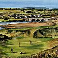 Clare  Golf At Lahinch Gc by Val Byrne