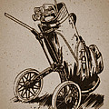 Golf Bag In The Grass  by Nenad Cerovic