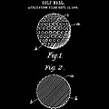 Golf Ball Patent 1906 - Black by Stephen Younts