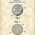 Golf Ball Patent 1906 - Parchment by Stephen Younts
