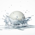 Golf Ball Splashing Into Water by Leonello Calvetti