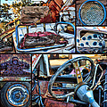 Golf Cart Collage by Sylvia Thornton