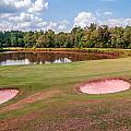 Golf Course Beautiful Landscape On Sunny Day by Alex Grichenko