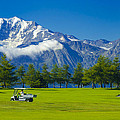 Golf Course Riederalp Swiss Alps Switzerland by Matthias Hauser