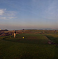 Golf Course With A Lighthouse by Panoramic Images