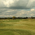Golf Course With Clouds by M N