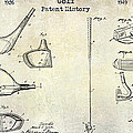 Golf Patent History Drawing by Jon Neidert