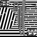 Golf Swing Maze  by Yonatan Frimer Maze Artist
