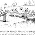 Golfing Through A Warzone by Tom Cheney