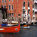 Gondolas In A Canal, Grand Canal by Panoramic Images
