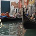 Gondolas In Venice by Dotti Hannum