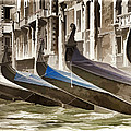 Gondolas-in-waiting   Venice by Jon Berghoff