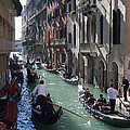 Gondolas - Venice by Phil Banks