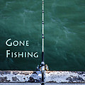 Gone Fishing At The Pier With My Rod And Reel by Jerry Cowart