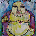 Good Luck Buddha by Laurie Maves ART