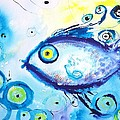 Good Luck Fish Abstract by Carlin Blahnik CarlinArtWatercolor