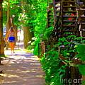 Goodbye Walking Away New Friends New Places To Visit Streets Of Verdun Montreal Art Scenes C Spandau by Carole Spandau