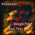 Google First Then Post by Barbara Snyder