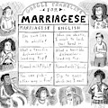Google Translate For Marriagese -- Translated by Roz Chast