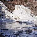 Gooseberry Middle Falls In Winter by T C Hoffman