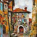 Gordes- Colorful Street by Dragica  Micki Fortuna