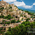 Gordes Hill Town in Provence by Inge Johnsson
