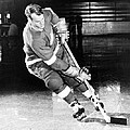 Gordie Howe Skating With The Puck by Gianfranco Weiss