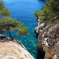 Gorge At Calanque De Port Miou In Cassis France by Luis Moya