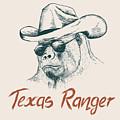 Gorilla Like A Texas Ranger Dressed In by Dimonika