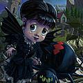 Goth Girl Fairy With Spider Widow by Martin Davey
