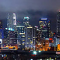 Gotham City - Los Angeles Skyline Downtown At Night by Jon Holiday