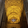 Gothic Vault Of The Seville Cathedral by Artur Bogacki