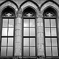 Gothic Windows - Black And White by Joseph Skompski