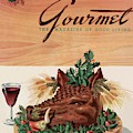Gourmet Cover Featuring A Boar's Head by Henry Stahlhut