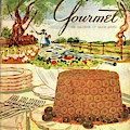 Gourmet Cover Featuring A Buffet Farm Scene by Henry Stahlhut