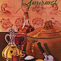 Gourmet Cover Featuring A Casserole Pot by Henry Stahlhut