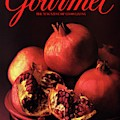 Gourmet Cover Featuring A Plate Of Pomegranates by Romulo Yanes