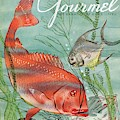 Gourmet Cover Featuring A Snapper And Pompano by Henry Stahlhut