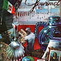 Gourmet Cover Featuring A Variety Of Italian by Henry Stahlhut