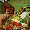 Gourmet Cover Featuring A Variety Of Vegetables by Henry Stahlhut