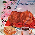 Gourmet Cover Illustration Of A Basket Of Popovers by Henry Stahlhut