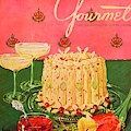 Gourmet Cover Illustration Of A Molded Rice by Henry Stahlhut