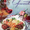 Gourmet Cover Illustration Of A Plate Of Antipasto by Henry Stahlhut