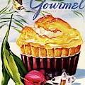 Gourmet Cover Illustration Of A Souffle And Tulip by Henry Stahlhut