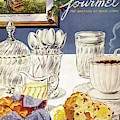 Gourmet Cover Illustration Of Cranberry Muffins by Henry Stahlhut