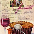 Gourmet Cover Illustration Of Deep Dish Pie by Henry Stahlhut