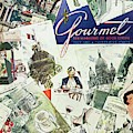 Gourmet Cover Illustration Of Drawings Portraying by Henry Stahlhut