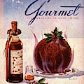 Gourmet Cover Illustration Of Flaming Chocolate by Henry Stahlhut