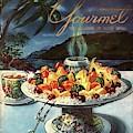 Gourmet Cover Illustration Of Fruit Dish by Henry Stahlhut