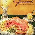 Gourmet Cover Illustration Of Salmon Mousse by Henry Stahlhut